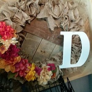 Big fall wreath with D or could take off D